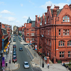 Council Street, the designated road of council functions for more than three centuries. It lies in the midst of the once-concrete jungle of Red Ringway (photo taken before the area's complete redo), with the ringway itself circling the street.