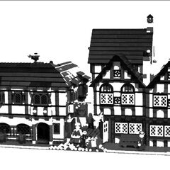 Two Tudor buildings near the border with Blossom Hill