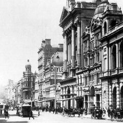 Municipal buildings on Gunhuaver Street South, most of which remain.