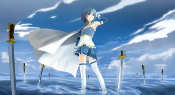 Blue-hair-mahou-shoujo-madoka-magica-miki-sayaka-anime-anime-girls-swords-1920x1050-hd-wallpaper