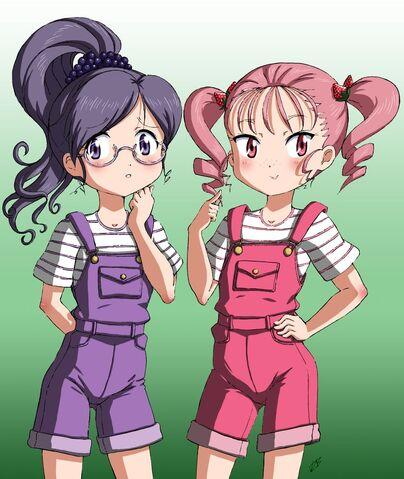 File:Left reika, right ichigo before transfrom to cure.jpg