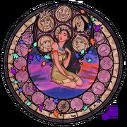 Pocahontas stainedglasswindow by akili amethyst-d38g4et
