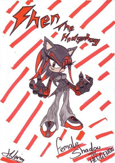 Female shadow the hedgehog shen by chantellethehedgie-d4uuipz