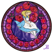 Alice s stained glass window by akili amethyst-d2qouga