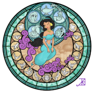 Jasmine s stained glass take2 by akili amethyst-d235scd