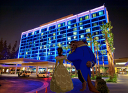 Belle and Beast arrived at Disneyland Hotel