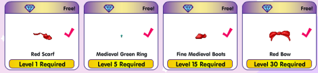 Level locked items1 nonmembers