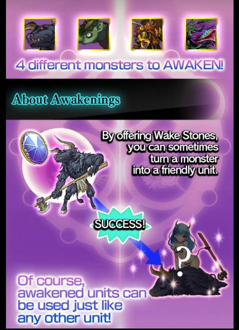 Awakening monsters