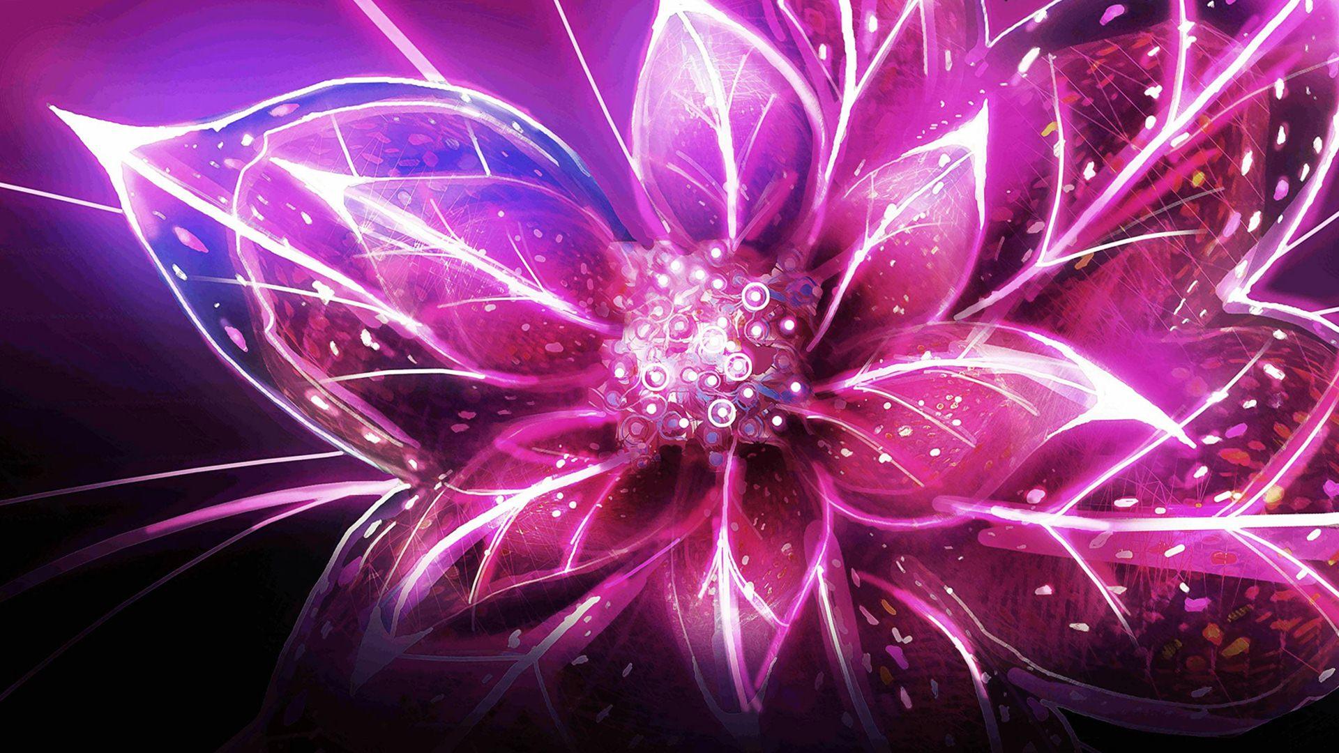 image - flowers-3d-diugital-purple-wallpapers   fantastic