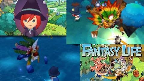 Fantasy Life - Sea Wraith + Forest Wraith Boss Fight - Odin + Olivia - Magician