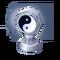 Silver Yin Yang Trophy