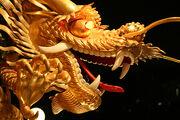 Dragon outside jumbo floating restaurant