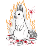 Killer dustrabbit flaming