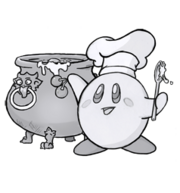 Kirby in the kitchen