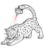 Laser guided leopard