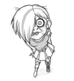 Emo zombie girl