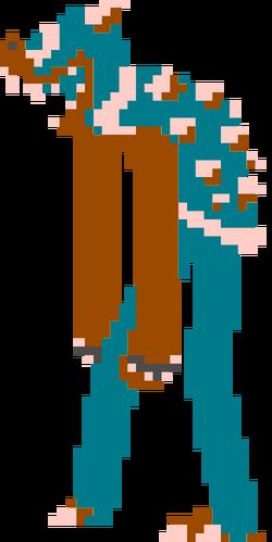 LankyWeirdBlue Bowser Sprite