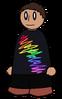 Shirt Rainbow Scribble Generic