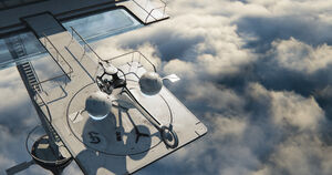 Futuristic-landing-pad