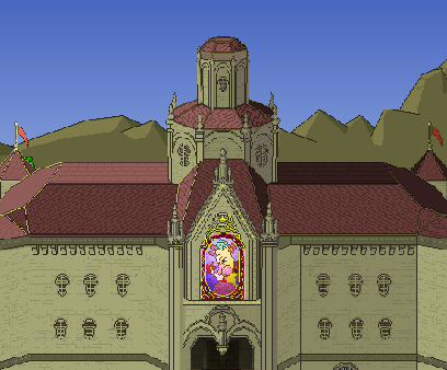 File:SSBM! Sta- Peach's Castle.png