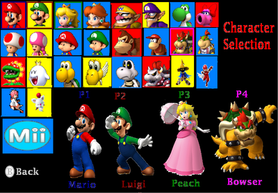 Super Mario Riders All Characters