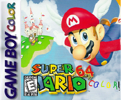 Super Mario 64 Color Box art