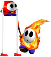Pyro guy and stilt guy