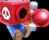 Mario Cannon Head Artwork - Super Mario 3D World