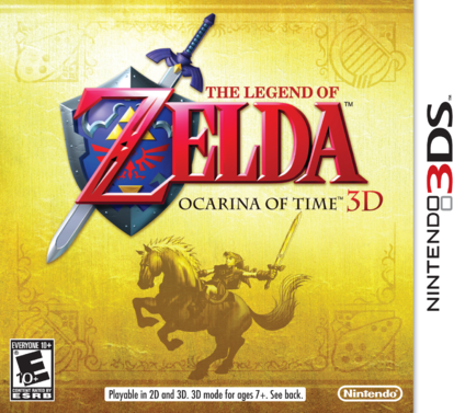 File:The Legend of Zelda Ocarina of Time 3D box art.png