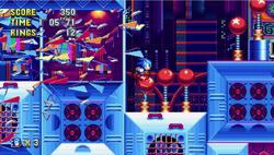 Sonic-Mania-Studiopolis-Zone-Breaking-Through-Glass-Wall
