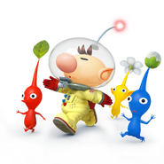 Captain Olimar and Pikmin - Super Smash Bros. for Nintendo 3DS and Wii Urender