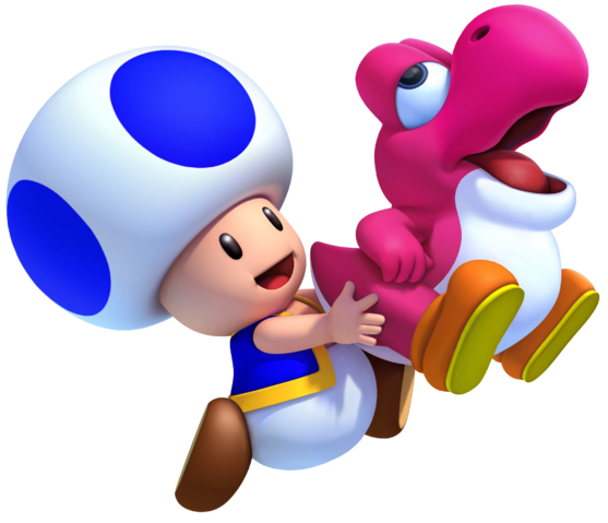 File:Magenta Yoshi and Blue Toad NSMBW2 2012.png