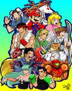 Nintendo vs capcom by Iziziza