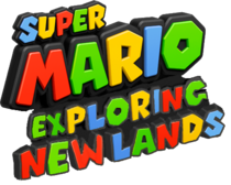 Super Mario Exploring New Lands Logo