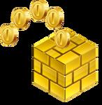 Gold Block 3D
