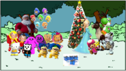 Hello yoshi & friends with sprixies prepare to christmas