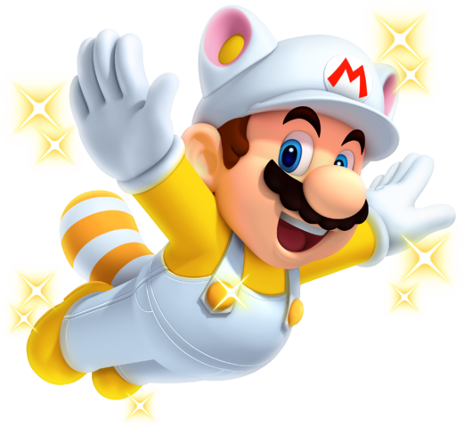 File:Invincibility Raccoon Mario - New Super Mario Bros 2.png
