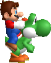 File:Mario and Yoshi Sprite.png