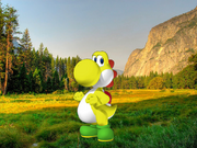 Tiny Yoshi in Grassy Plains