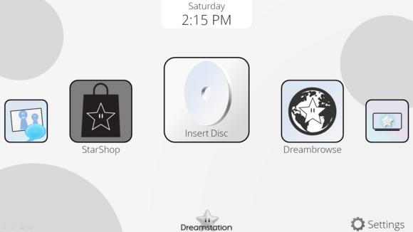 DreamOS homemenu screenshot