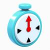 Blue Clock Artwork - Super Mario 3D World