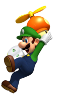 Luigi playing Rugby