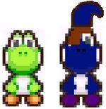 Yoshi and Blushi size comparison