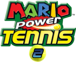 Mario Power Tennis 2 Logo