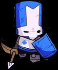 Blue Castle Crasher by senbei