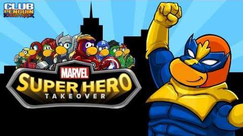 Club Penguin Music OST Soundtrack MARVEL Super Hero Takeover Main Theme