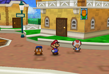 Outside Toad Town Item Shop (Paper Mario)