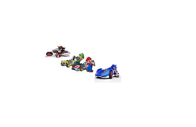 File:MK7 TS Mario, Luigi, Sonic, & Shadow.JPG