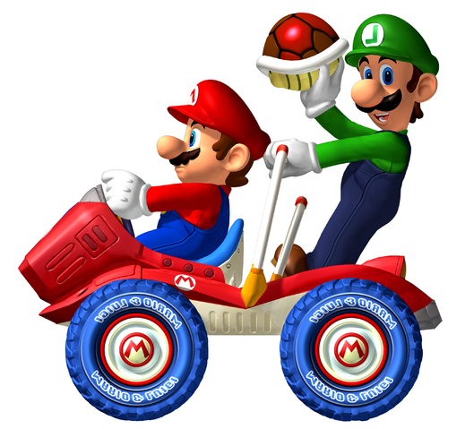File:Mario and Luigi MKW2!!.png