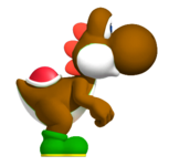 Brown YoshiSMWWii